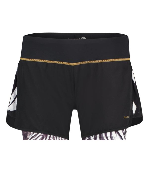 Afiya Shorts feathers black & white