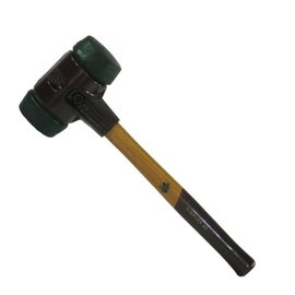 HALDER Simplex-Schonhammer, Gummi/Gummi-Einsatz