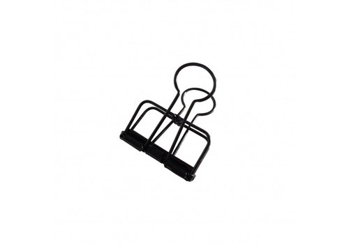 Studio Stationery Binder clips Black M