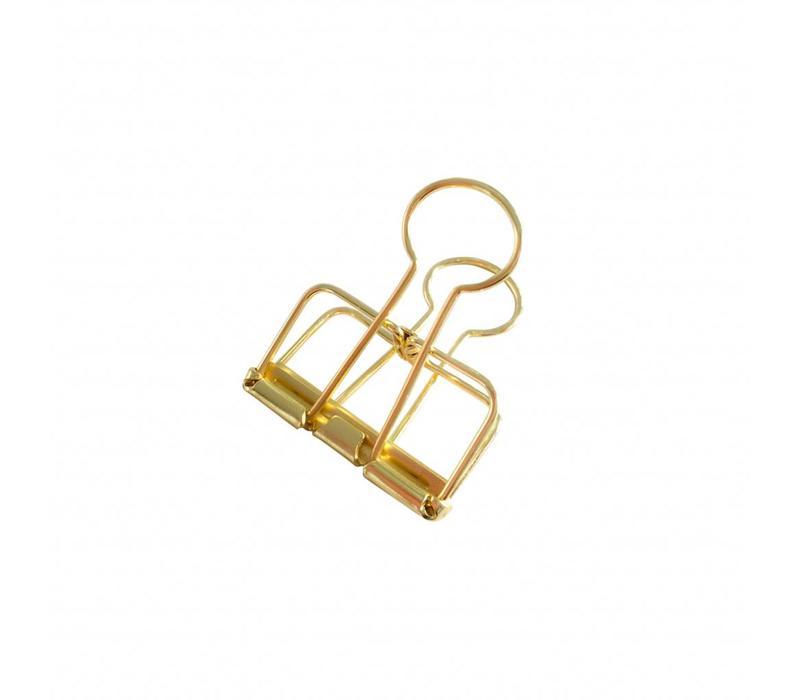 Binder clips Gold M