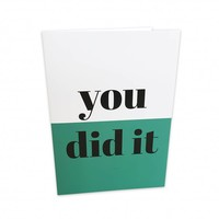 Greeting card You did it