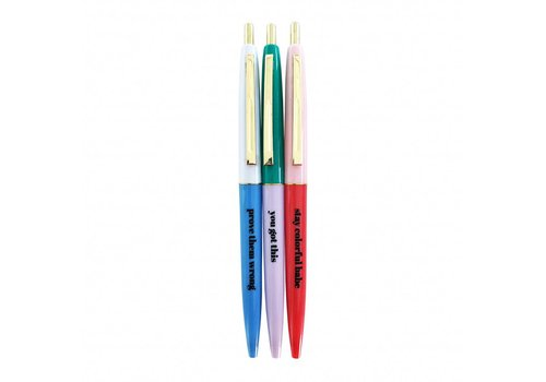 Studio Stationery Stay colorful ballpen set