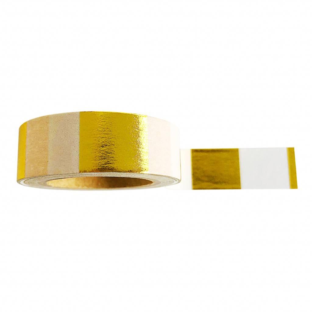 Washi tape Goldfoil white - Studio Stationery