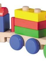 Houten trein met blokken