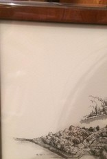Tekening Naarden-Vesting 30 x 45 cm ingelijst