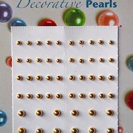 Selfadhesive pearls gold