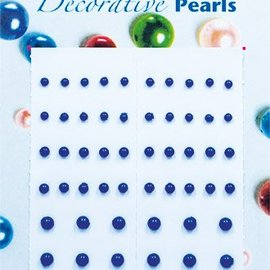 selbstklebende Perlen dunkelblau