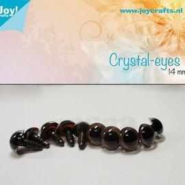 Kristall-Augen - Braun (14mm)