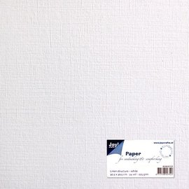 Paper for cardmaking linen structure white