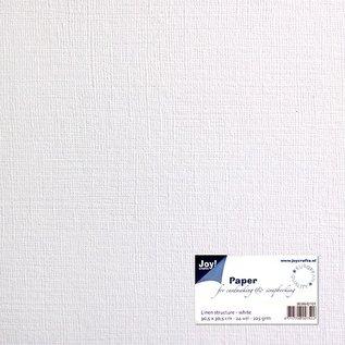 Leinenkarton - weiß 30,5x30,5 cm