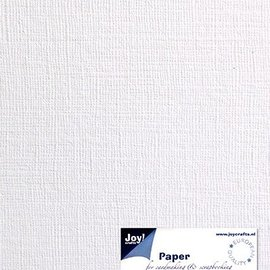 Paper for cardmaking linen structure white A6, 10,5x14,8 cm, 225 gr