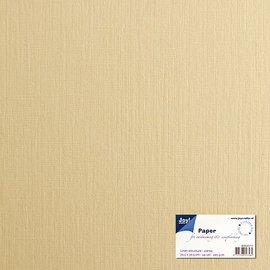 Paper for cardmaking linen structure crème 30,5x30,5 cm, 225 gr