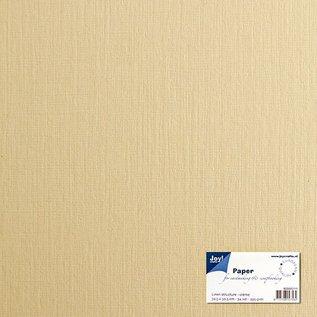Leinenkarton - crème 30,5x30,5 cm