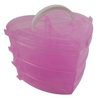 Kleinteilebox - Herz-Form - 3 Etagen