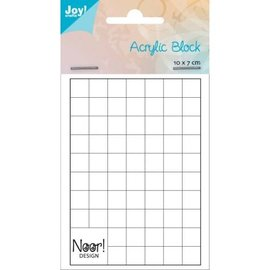 Acrylic bloc for clear stamps