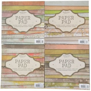 4 Blöcke Designpapier, doppelseitig bedruckt