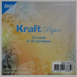 Kraftpaper with envelope -14x14cm - 8001/0015
