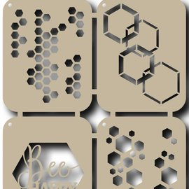 Scr@p Stencils - Bee Happy 6002/0828