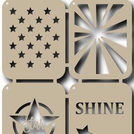 Scr@p  Stencils - Stars