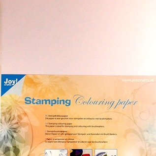 Stamping colouring paper