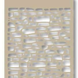 Mask stencil - Bricks