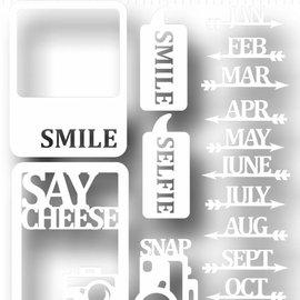 Scrap Peel & Stick Schablone - Say cheese 6002/5002
