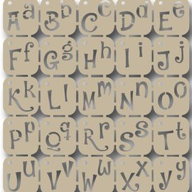 Scrap Polybesaschablone - Alphabet 6002/0842