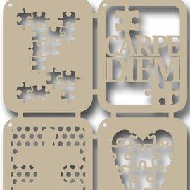 Scrap Polybesastencil -Carpe Diem