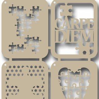 Scrap Polybesaschablone -Carpe Diem