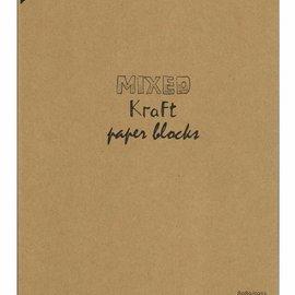 Mixed Kraft Paperbloc A4