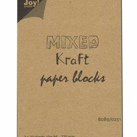 Mixed Kraft Paperbloc A6