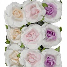 Artificial Flowers - Rosen lachs/rosa/lila groß 6370/0052