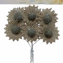Blumen Jute Braun 6370/0080