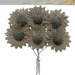 Blumen Jute Braun