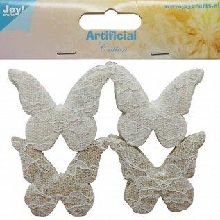 Schmetterlinge Baumwolle mit Spitze
