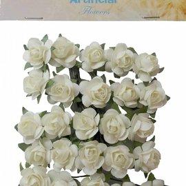 Artificial Flowers - Rosen klein Creme 6370/0077
