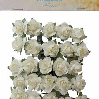 Artificial Flowers - Rosen klein Creme