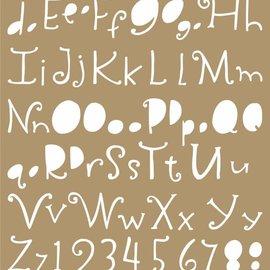 Polybesa Mask Schablone - Lettering 6002/0850