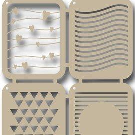 Polybesa stencil - Scrap - Stripes
