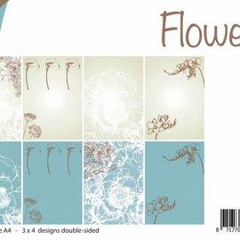 Papierset - Design Blumen 6011/0530
