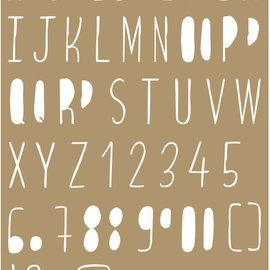 Maskschablone Polybesa - Buchstaben 6002/0849