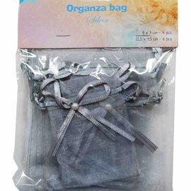 Organza bags - silver