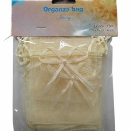 Organza bags - ivory