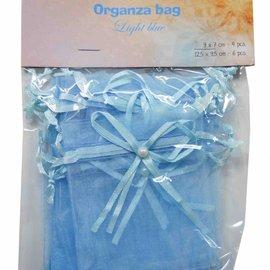 Organza bags - blue