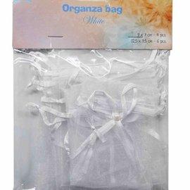 Organza bags - white