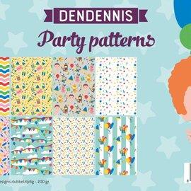 Papierset - Dendennis Party-patterns 6011/0555