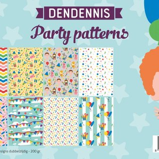 Papierset - Dendennis Party-patterns