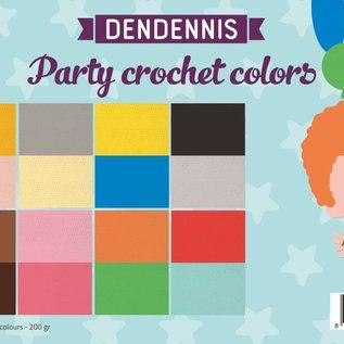 Papierset - Dendennis Party crochet colors