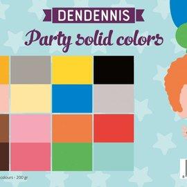 Papierset - Dendennis Party solid colors 6011/0553
