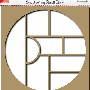 Scrapbooking Schablone Circle